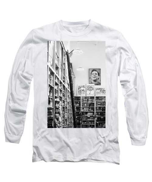 Modica Market - Black And White Long Sleeve T-Shirt by Shelby  Young