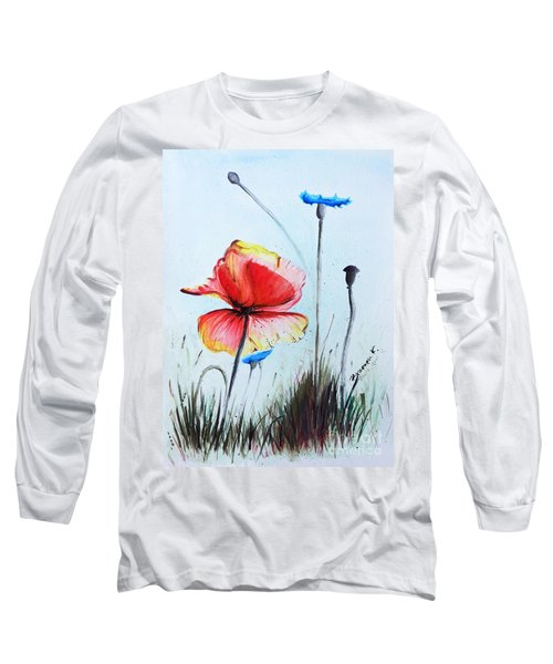 Mohnwiese Long Sleeve T-Shirt by Katharina Filus