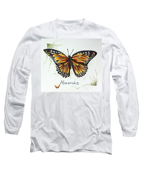 Monarchs - Butterfly Long Sleeve T-Shirt by Katharina Filus