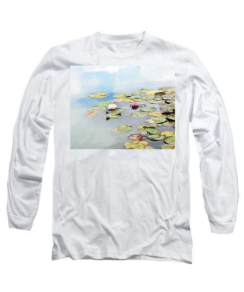 Long Sleeve T-Shirt featuring the photograph Monet's Garden by Brooke T Ryan