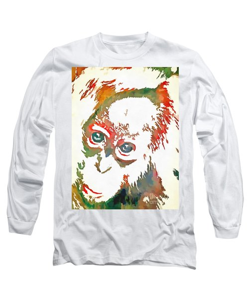 Monkey Pop Art Long Sleeve T-Shirt