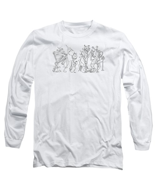 Monster  Queue Long Sleeve T-Shirt