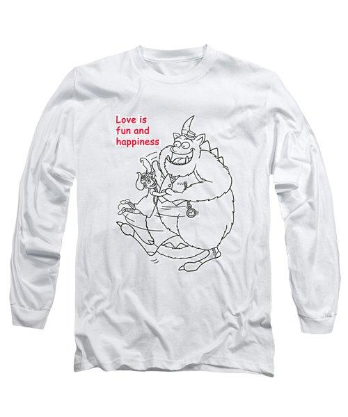 Monster Valentine Long Sleeve T-Shirt