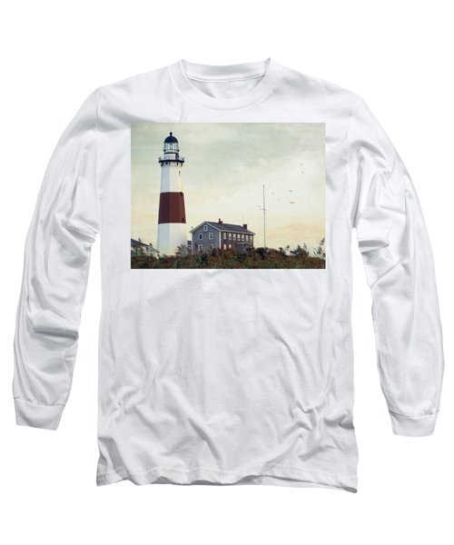 Montauk Dusk Long Sleeve T-Shirt by Keith Armstrong