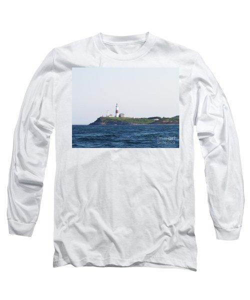 Montauk Lighthouse From The Atlantic Ocean Long Sleeve T-Shirt by John Telfer