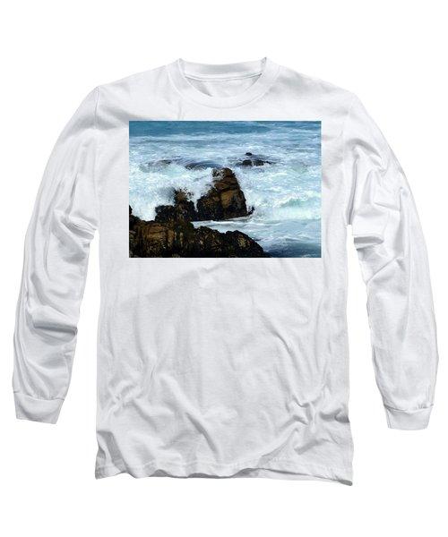 Long Sleeve T-Shirt featuring the photograph Monterey-2 by Dean Ferreira