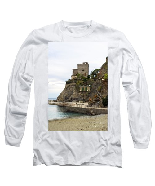 Monterosso Harbor Pier Long Sleeve T-Shirt