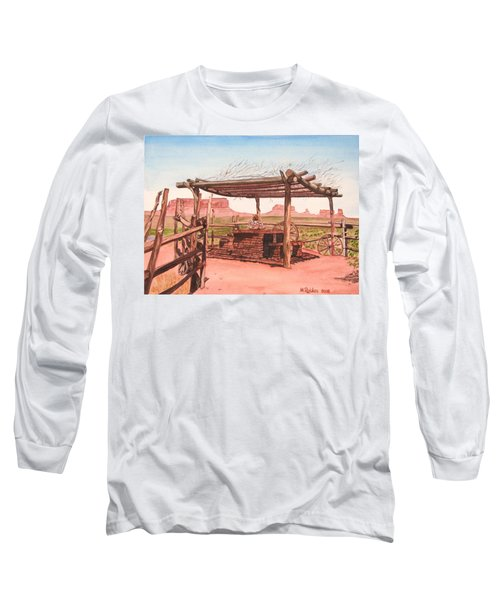 Monument Valley Overlook Long Sleeve T-Shirt by Mike Robles