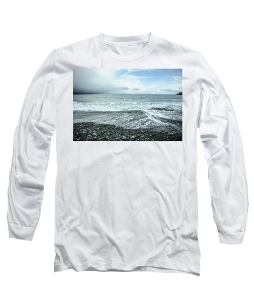 Moody Waves French Beach Long Sleeve T-Shirt