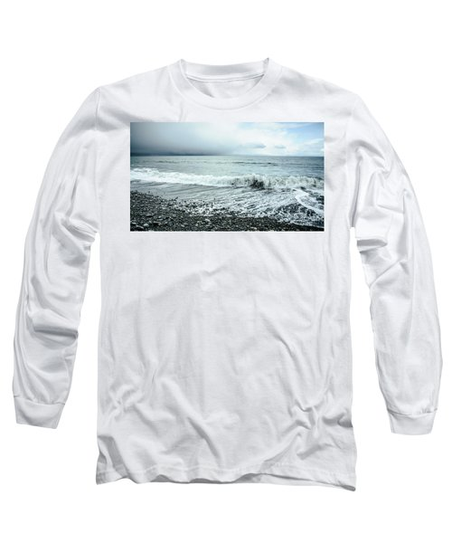 Moody Shoreline French Beach Long Sleeve T-Shirt by Roxy Hurtubise