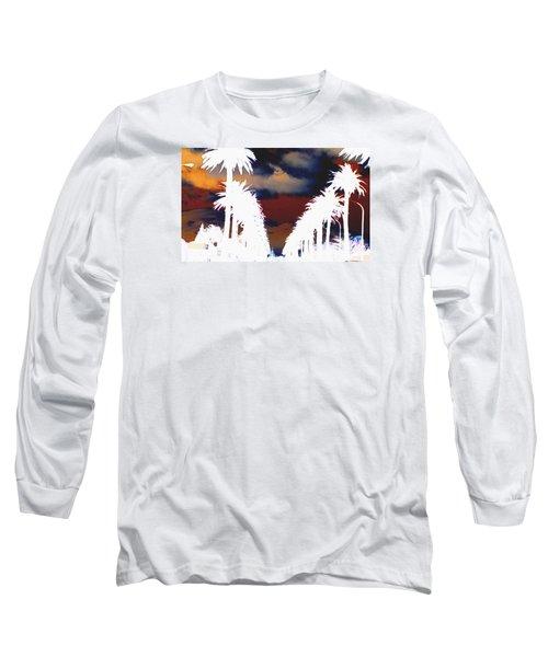 Moody Blues Long Sleeve T-Shirt by Linda Hollis
