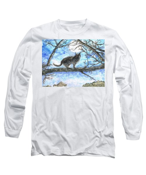Moon Cat Long Sleeve T-Shirt