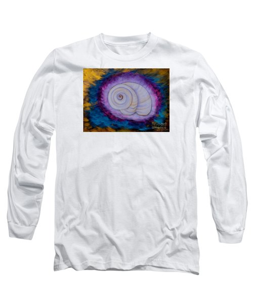 Long Sleeve T-Shirt featuring the painting Moon Snail by Deborha Kerr