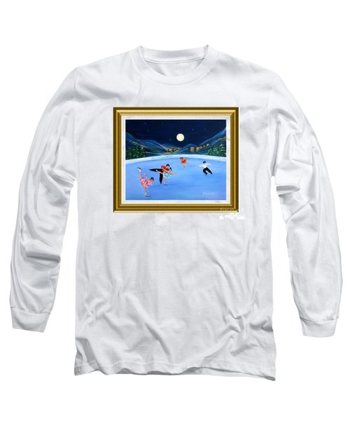 Moonlight Skating. Inspirations Collection. Card Long Sleeve T-Shirt