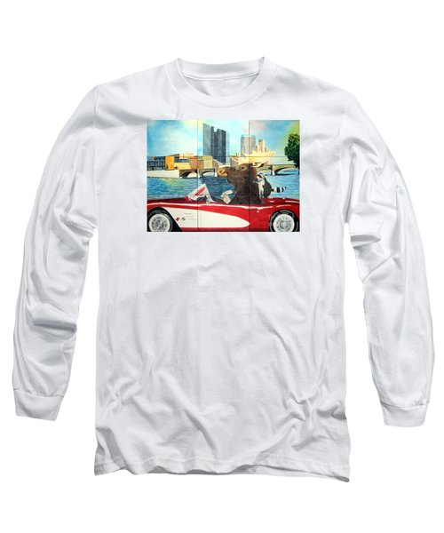 Long Sleeve T-Shirt featuring the painting Moose Rapids Il by LeAnne Sowa