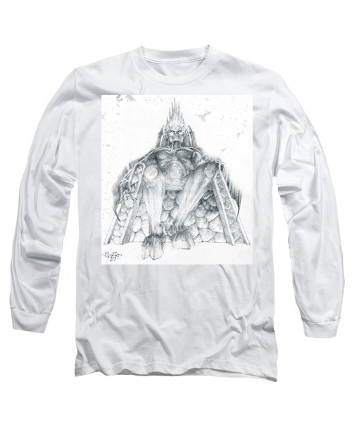 Long Sleeve T-Shirt featuring the drawing Morgoth Bauglir by Curtiss Shaffer