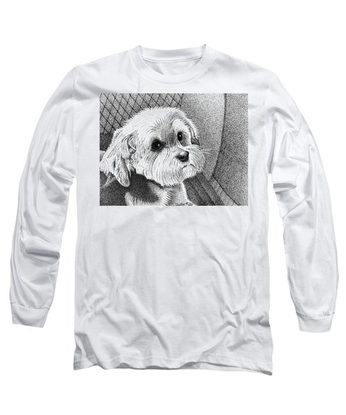 Morkie Long Sleeve T-Shirt by Dustin Miller