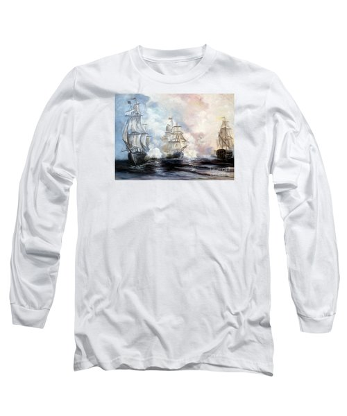 Long Sleeve T-Shirt featuring the painting Morning Battle by Lee Piper