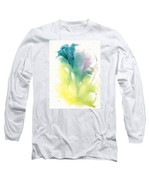 Long Sleeve T-Shirt featuring the painting Morning Glory Abstract by Frank Bright