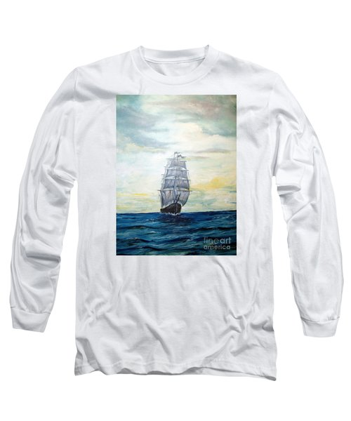 Long Sleeve T-Shirt featuring the painting Morning Light On The Atlantic by Lee Piper