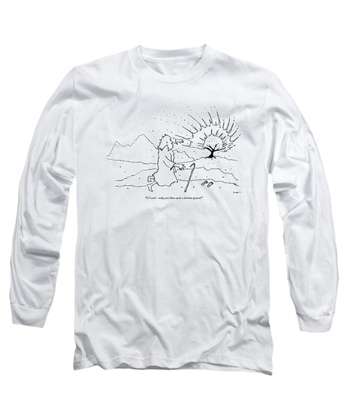 Moses Comments While A Tree Burns In The Distance Long Sleeve T-Shirt