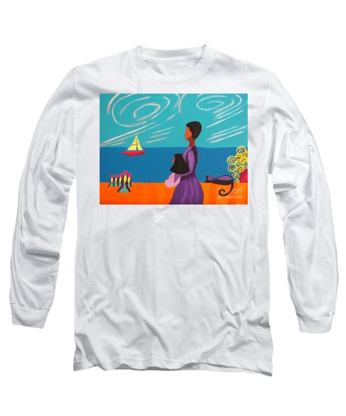Mother And Daughter Long Sleeve T-Shirt by Anita Lewis