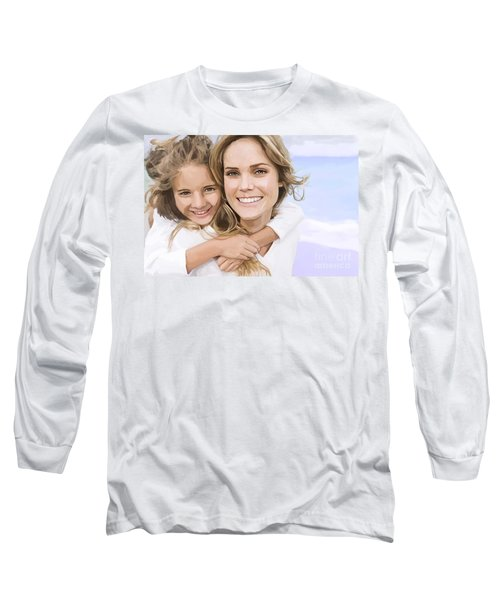 Long Sleeve T-Shirt featuring the painting Mother Daughter Portrait   by Tim Gilliland