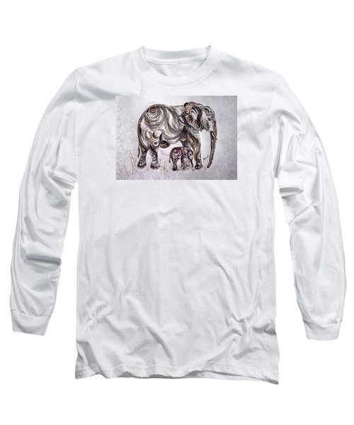Mother Elephant Long Sleeve T-Shirt