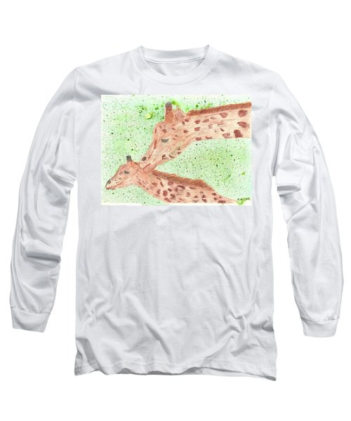 Long Sleeve T-Shirt featuring the painting Motherly Love by Tracey Williams