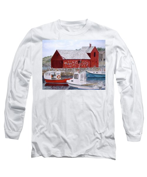 Long Sleeve T-Shirt featuring the painting Motif No 1 by Carol Flagg