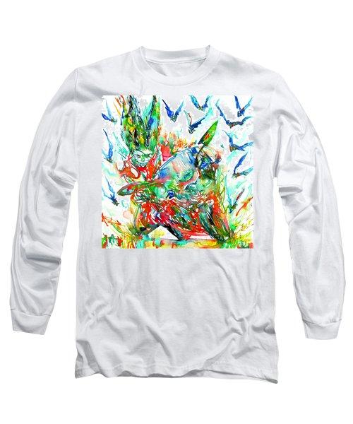 Motor Demon With Bats Long Sleeve T-Shirt