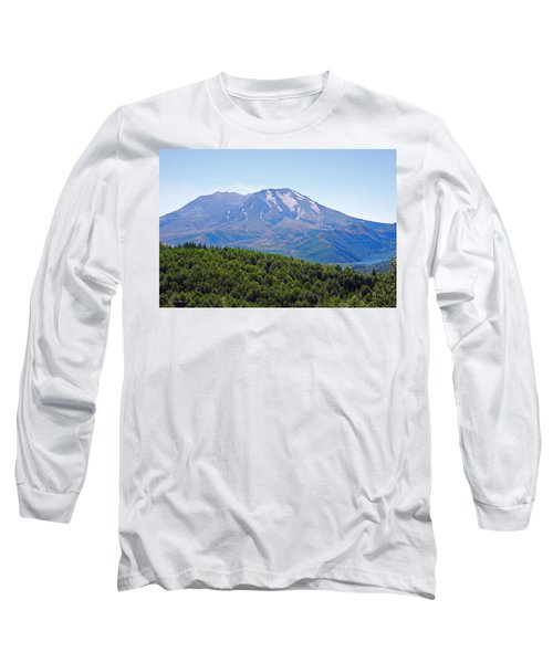 Mount St. Helens And Castle Lake In August Long Sleeve T-Shirt