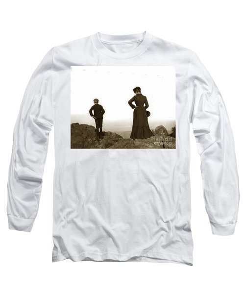 Long Sleeve T-Shirt featuring the photograph Mount Tamalpais Marin County California Circa 1902 by California Views Mr Pat Hathaway Archives