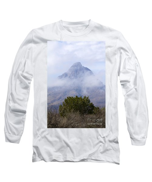 Mountain Cloaked Long Sleeve T-Shirt by Alycia Christine