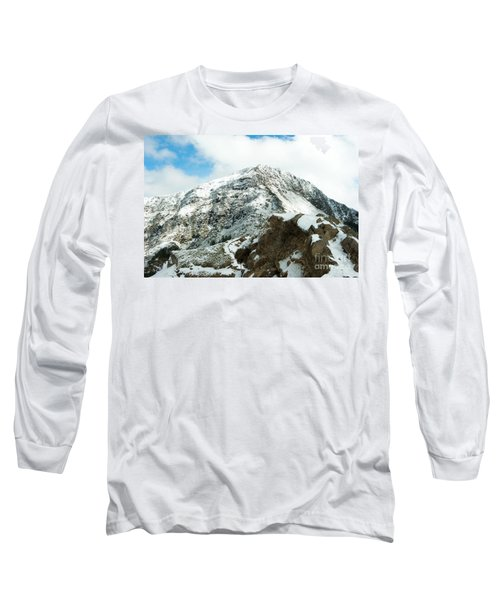 Long Sleeve T-Shirt featuring the photograph Mountain Covered With Snow by Yew Kwang