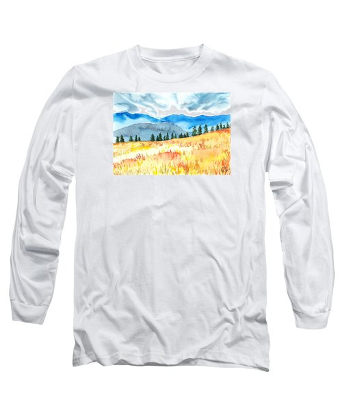 Mountain View Long Sleeve T-Shirt by Kate Black