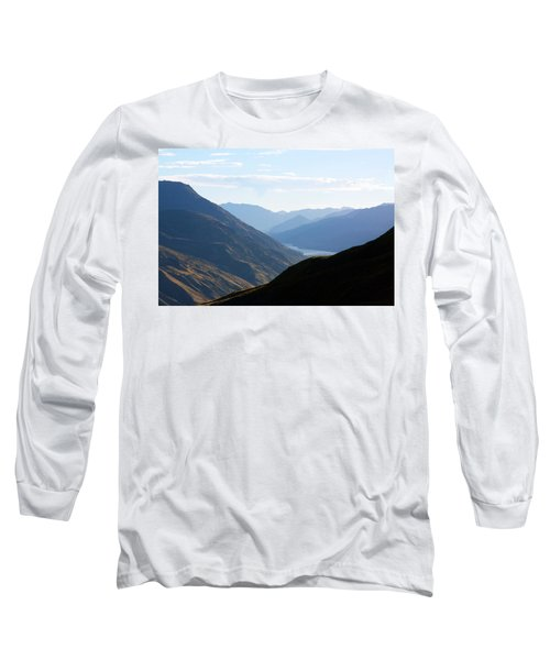 Mountains Meet Lake #3 Long Sleeve T-Shirt by Stuart Litoff