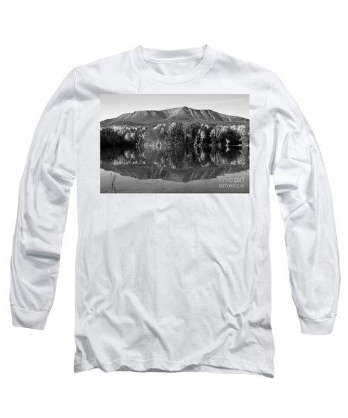 Mt Katahdin Black And White Long Sleeve T-Shirt by Glenn Gordon