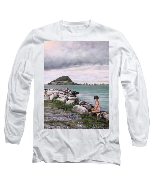 Mt Maunganui 140408 Long Sleeve T-Shirt by Sylvia Kula