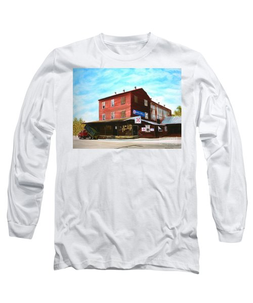 Long Sleeve T-Shirt featuring the painting Mt. Pleasant Milling Company by Stacy C Bottoms