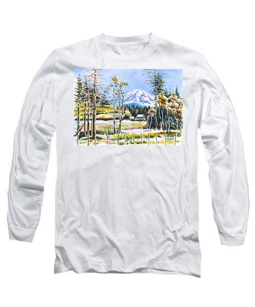 Elk Head On Mt Rainier  Long Sleeve T-Shirt