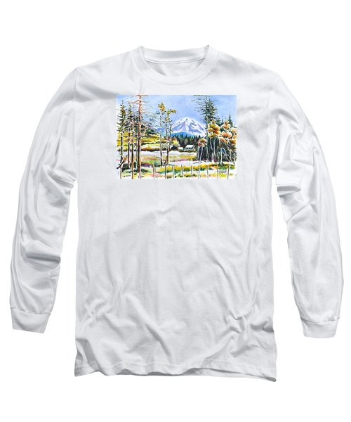 Elk Head On Mt Rainier  Long Sleeve T-Shirt