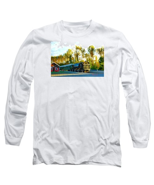 Long Sleeve T-Shirt featuring the photograph Mt Rainier W A Scenic Railroad by Sadie Reneau