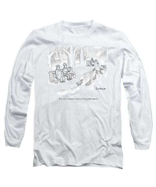 Multiple People Attempt To Feed Ducks Near A Pond Long Sleeve T-Shirt