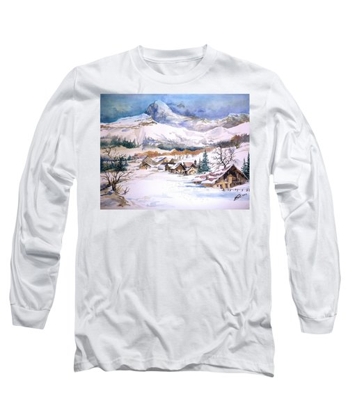 My First Snow Scene Long Sleeve T-Shirt