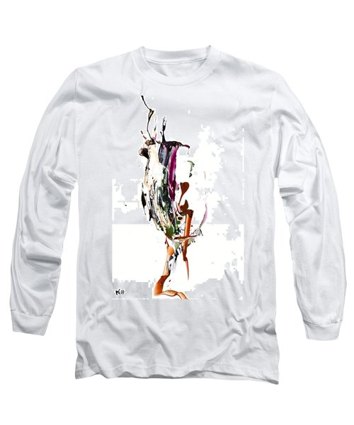 Long Sleeve T-Shirt featuring the painting My Form Of Jazz Series - 10186.110709 by Kris Haas