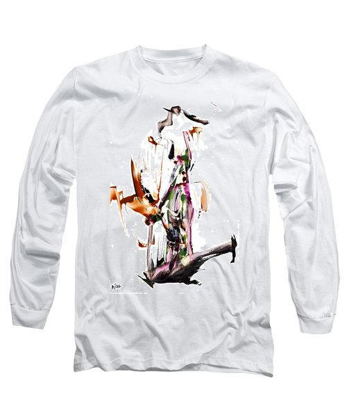 Long Sleeve T-Shirt featuring the painting My Form Of Jazz Series - 10187.110709 by Kris Haas