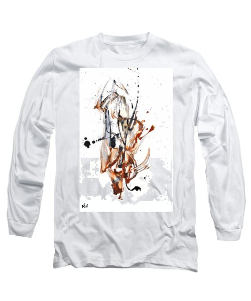 Long Sleeve T-Shirt featuring the painting My Form Of Jazz Series - 10188.110709 by Kris Haas