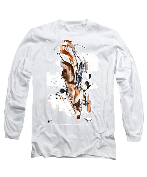 Long Sleeve T-Shirt featuring the painting My Form Of Jazz Series - 10189.110709 by Kris Haas