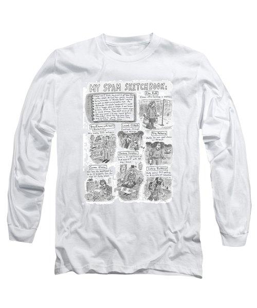 My Spam Sketchbook Long Sleeve T-Shirt
